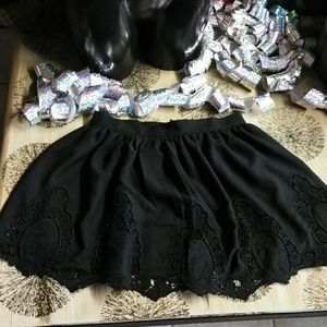Tobi gallery all lace skirt open bottom mini